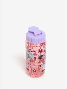 Fialovo-ružová dievčenská fľaša s potlačou Tyrrell Katz Secret garden