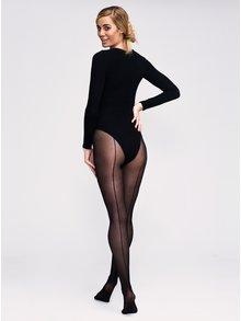 Černé punčochové kalhoty Andrea Bucci Backseam 30 DEN