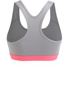Sivá dámska športová podprsenka Nike
