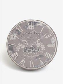 Sivý sedák s motívom ručičkových hodín Dakls