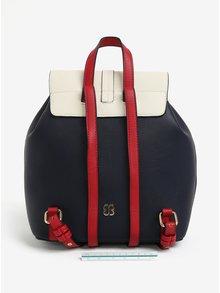 Krémovo-modrý batoh Bessie London