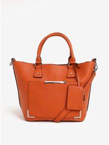 Oranžová kabelka s puzdrom Bessie London