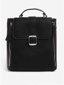 Čierny batoh s ozdobnými zipsami Bessie London