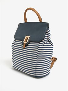 Modrý pruhovaný batoh Bessie London