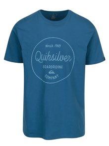 Tricou albastru cu print text pentru barbati - Quiksilver