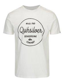 Tricou alb cu print text pentru barbati - Quiksilver