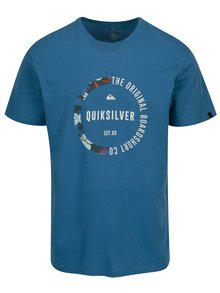 Tricou albastru cu print pentru barbati - Quiksilver