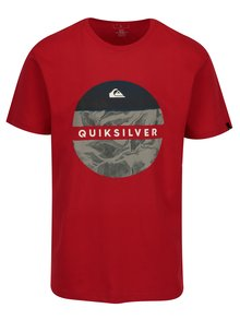 Tricou rosu regular fit cu print pentru barbati - Quiksilver