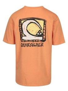 Tricou oranj cu print pentru barbati - Quiksilver