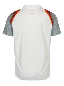 Tricou polo alb cu print si protectie solara Sergio Tacchini Magma