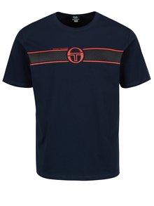Tmavomodré pánske tričko s potlačou Sergio Tacchini Laufen