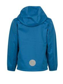 Modrá chlapčenská softshellová bunda s kapucňou a kúzelnou potlačou Lego Wear Sebastian