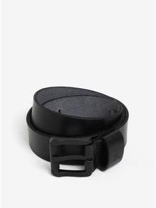 Černý pánský kožený pásek Quiksilver