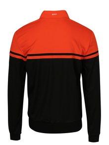 Oranžovo-čierna pánska športová mikina Sergio Tacchini Young Line