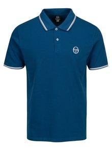 Modré pánské polo tričko s výšivkou Sergio Tacchini Sergio