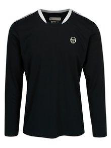 Tmavomodré pánske športové tričko s dlhým rukávom Sergio Tacchini Club Tech