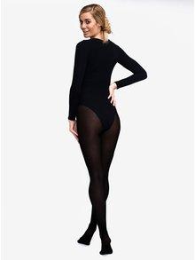 Černé tvarovací slim punčochové kalhoty s vysokým pasem Andrea Bucci 100 DEN