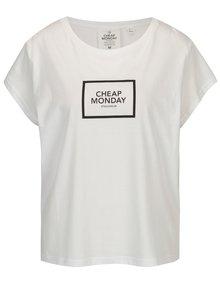 Biele voľné tričko s potlačou Cheap Monday