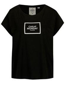 Černé volné tričko s potiskem Cheap Monday