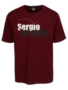 Vínové pánske tričko s potlačou Sergio Tacchini Leto