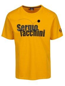 Žlté pánske tričko s potlačou Sergio Tacchini Leto