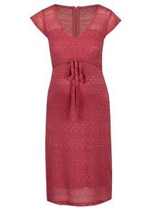 Ružové čipkované tehotenské šaty Mama-licious Cabrini