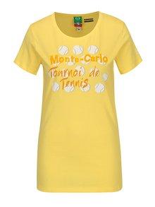 Tricou galben cu print pentru femei - Sergio Tacchini Orafa