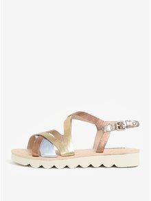 Kožené dámske sandále v striebornej, bronzovej a zlatej farbe Pikolinos Valencia