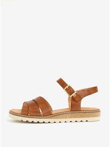 Hnedé kožené sandále Pikolinos Mykonos