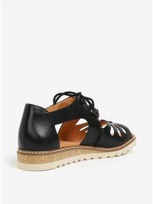 Čierne kožené sandále Pikolinos Alcudia