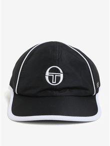 Černo-bílá pánská kšiltovka s výšivkou Sergio Tacchini Club Tech