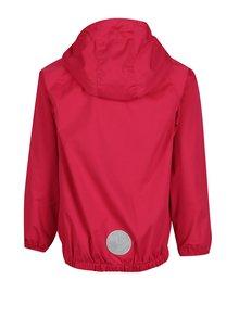 Ružová dievčenská funkčná vodovzdorná bunda s kapucňou Lego Wear Sabrine