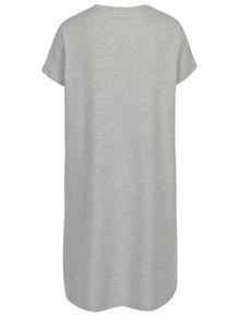 Světle šedé žíhané mikinové šaty Noisy May Lucky