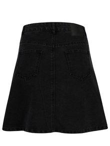 Černá džínová sukně s knoflíky Noisy May Sunny