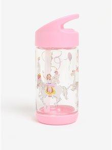 Ružová dievčenská fľaša na pitie so slamkou Cath Kidston 350 ml