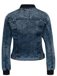 Jacheta din denim bleumarin cu terminatii elastice pentru femei Broadway Anya