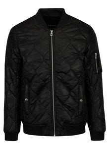 Jacheta bomber matlasata neagra cu model delicat pentru barbati Broadway Georgia