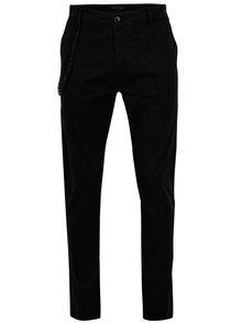 Černé pánské kalhoty s řetězem Broadway