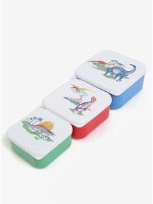 Súprava troch detských desiatových boxov v modrej, červenej a zelenej farbe Cath Kidston