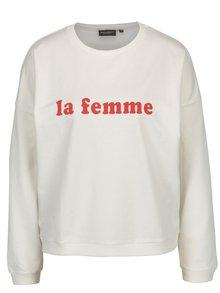 Bluza alba cu print text pentru femei Broadway Albertine