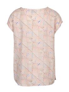 Bluza roz deschis cu print geometric pentru femei Broadway Cirie