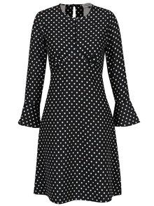Tmavomodré bodkované šaty Closet