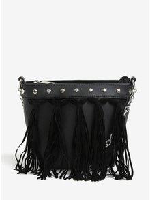 Čierna crossbody kabelka so strapcami Miss Selfridge