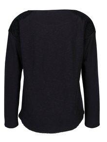 Bluza oversized cu aplicatie din dantela s.Oliver