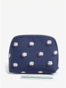 Tmavě modrá puntíkovaná kosmetická taštička Cath Kidston