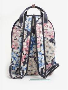 Krémovo-modrý dámsky kvetovaný batoh Cath Kidston