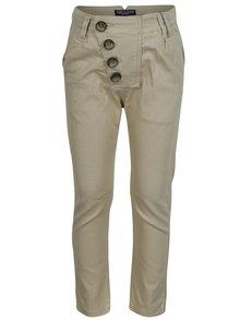 Světle hnědé klučičí kalhoty s asymetrickým zapínáním North Pole Kids