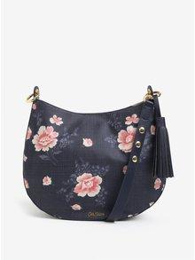 Tmavomodrá kvetovaná kabelka so strapcami Cath Kidston
