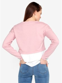 Bluza roz cu terminatie 2 in 1 - VERO MODA Rikke