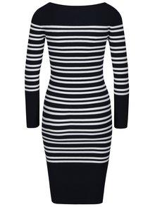 Bílo-modré pruhované svetrové šaty s dlouhým rukávem Selected Femme Harper